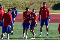 Spainsh Nolito and Lucas Vazquez during the training of the spanish national football team in the city of football of Las Rozas in Madrid, Spain. November 10, 2016. (ALTERPHOTOS/Rodrigo Jimenez) ///NORTEPHOTO.COM