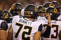 TEMPE, AZ - September 24, 2016: Cal Bears Football team vs. the Arizona State University Sun Devils at Sun Devil Stadium. Final score, Cal Bears 41, Arizona State University Sun Devils 51.