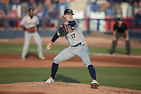 Charleston RiverDogs starting pitcher Seth Johnson (17) in action against the Kannapolis Cannon Ballers at Atrium Health Ballpark on June 29, 2021 in Kannapolis, North Carolina. (Brian Westerholt/Four Seam Images)