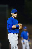 AZL Cubs third baseman Cam Balego (82) on defense against the AZL Giants on September 5, 2017 at Scottsdale Stadium in Scottsdale, Arizona. AZL Cubs defeated the AZL Giants 10-4 to take a 1-0 lead in the Arizona League Championship Series. (Zachary Lucy/Four Seam Images)