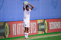 LAKE BUENA VISTA, FL - JULY 20: Ruan #2 of Orlando City SC throws the ball during a game between Orlando City SC and Philadelphia Union at Wide World of Sports on July 20, 2020 in Lake Buena Vista, Florida.