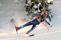 19th December 2020; Saslong, Val Gardena, Tyrol, Italy; International Ski Federation Alpine Ski World Cup, 2nd Men's Downhill, Val Gardena; Alexander Koell (SWE) loses his balance through a gate