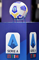 The Nike official ball of the match placed on a support with Serie A logo is seen prior to the Serie A football match between ACF Fiorentina and Atalanta Bergamasca Calcio at Artemio Franchi stadium in Firenze (Italy), April 11th, 2021. Photo Andrea Staccioli / Insidefoto