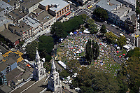 aerial view of Washington Square Park, North Beach, San Francisco, California