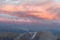 Sunset from near Castle Peak's summit