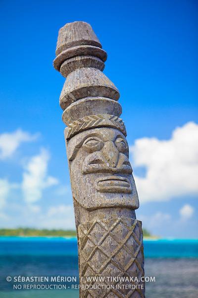 Sculpture kanak, Ile des Pins, Nouvelle-Calédonie