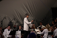 MONTREAL, CANADA - August 14 - <br /> The Montreal Symphony Orchestra and Maestro Nagano perform a large scale outdoor concert on the Esplanade Financiere Sun Life of the Olympic Stadium, August 14, 2014.<br /><br />Photo : Agence Quebec Presse - Philippe Nguyen