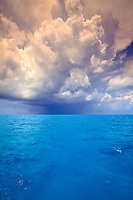 rain squall approaches over Little Bahama Bank Bahamas, Caribbean (Western Atlantic Ocean)