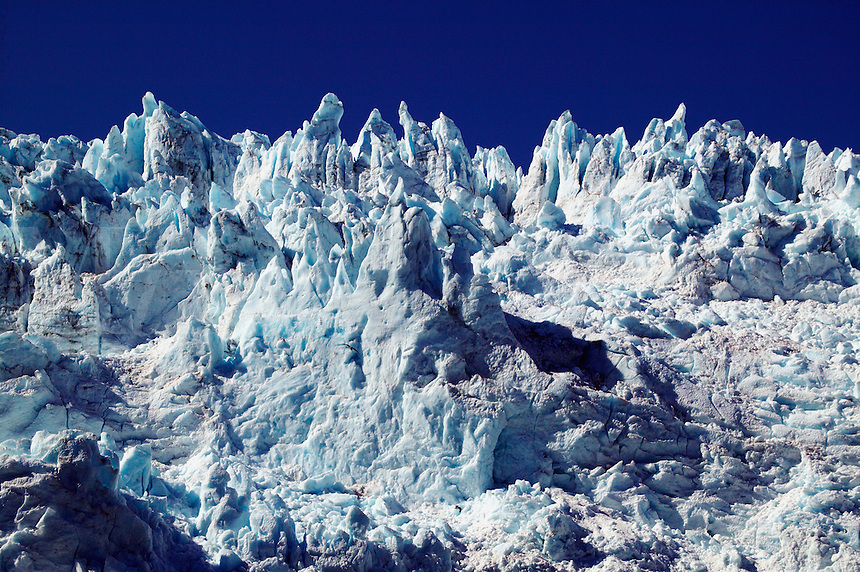 Seracs on Holgate Glacier, Aialik Bay, Kenai Fjords National Park, near Seward, Alaska