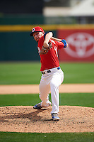 Buffalo Bisons relief pitcher Danny Barnes (16) during a game against the Syracuse Chiefs on July 31, 2016 at Coca-Cola Field in Buffalo, New York.  Buffalo defeated Syracuse 6-5.  (Mike Janes/Four Seam Images)