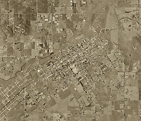 historical aerial photograph Ramona, San Diego county, California, 1971
