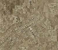 historical aerial photograph Ramona, San Diego county, California, 1971