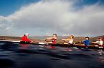 Rowing, US National Rowing Team, women's eight, workout, Otay Lake, ARCO Olympic Training Center, Chula Vista, California, cox, Raj Shaw,.
