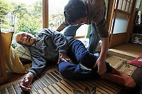 Kimura (last name) Jiroemon is 113 years old and the oldest MAN in Japan (there are two WOMEN who are older).  His grand-daughter-in-law is taking care of him today... her name is Kimura (last name) Eiko.  He was retired around the time I was born (I am 52).  ..From the researcher:.2).The Eldest Man in Japan May8, 2010/Saturday from 2p.m.-..A 113-year-old, the eldest man in Japan, is Mr. Jiroh-uemon KIMURA..He was born on April 19, 1897 or the Meiji year-30, worked at post offices for 38 years..He usually spend a couple of hours reading newspapers with a magnifying glass..Lives with his grand-daughter, Ms. Eiko KIMURA and her family..Every day, aside from daily meals, he eats yogurt, salted-pickled plum or UMEBOSHI, sweet potato, and drinks milk...He tries not to worry about daily issues and believes that there's a brighter day ahead of him...According to Ministry of Health, Labor and Welfare, as of 2008, the average life span for men is 79-point-29, and for women, 86-point-05...Also, on May 5 this year/2010, The Children's Day, Ministry of Internal Affairs and Communications released the number of children, age up to 14, is 16-point-94, down 190-thousand y-o-y, marking 29th decline since 1982..The ratio of the children is 13-point-3 %, the record low..