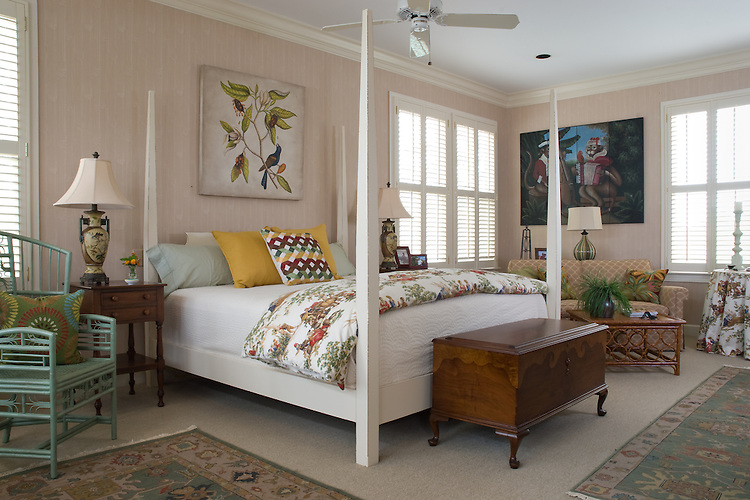 Transitional Master bedroom by Nancy Meyers