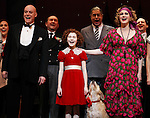 Anthony Warlow, Lilla Crawford, Sunny, Katie Finneran, Merwin Foard & Company during the Broadway Opening Night Performance Curtain Call for 'Annie' at the Palace Theatre in New York City on 11/08/2012