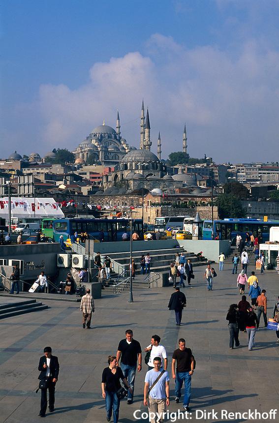 Türkei, Süleymanye Camii (Moschee) und Rüstem Pascha Camii in Istanbul, erbaut 1550/1557 bzw 1560von Sinan, Unesco-Weltkulturerbe