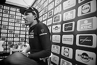 race winner Fabian Cancellara (CHE/TrekFactoryRacing) waiting for the live tv interviews after the race<br /> <br /> Ronde van Vlaanderen 2014
