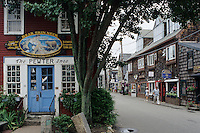 "Cape Cod, Massachusetts.Picturesque shops on ""Bearskin Neck"""