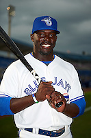 Dunedin Blue Jays Anthony Alford (22) poses for a photo before a game against the Palm Beach Cardinals on April 15, 2016 at Florida Auto Exchange Stadium in Dunedin, Florida.  Dunedin defeated Palm Beach 8-7.  (Mike Janes/Four Seam Images)