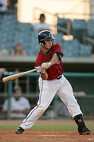 August 16 2009: Koby Clemens of the Lancaster JetHawks during game against the Bakersfield Blaze at Clear Channel Stadium in Lancaster,CA.  Photo by Larry Goren/Four Seam Images