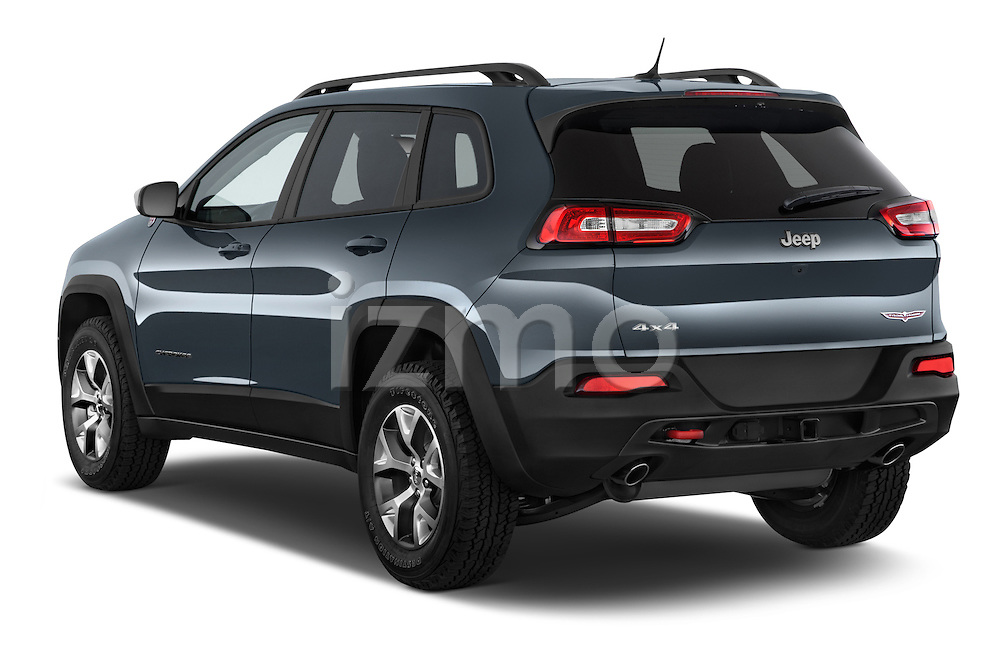 Car pictures of rear three quarter view of a 2017 Volkswagen Cherokee Trailhawk 4X4 5 Door SUV angular rear