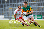 Brian Ó Beaglaoich, Kerry, in action against Peter Harte, Tyrone, during the Allianz Football League Division 1 Semi-Final, between Tyrone and Kerry at Fitzgerald Stadium, Killarney, on Saturday.