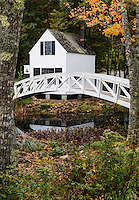 Footbridge, Somesville, Maine, USA
