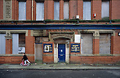 The empty and derelict Grosvenor Hotel in Liverpool 8.