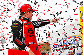 NASCAR XFINITY Series<br /> Kansas Lottery 300<br /> Kansas Speedway, Kansas City, KS USA<br /> Saturday 21 October 2017<br /> Christopher Bell, JBL Toyota Camry celebrates<br /> World Copyright: Barry Cantrell<br /> LAT Images