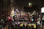 © Joel Goodman - 07973 332324 . 05/11/2016 . London , UK . Many police on Whitehall . Supporters of Anonymous , many wearing Guy Fawkes masks , attend the Million Mask March bonfire night demonstration , in central London . Photo credit : Joel Goodman