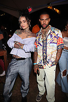 NEW YORK, NY - SEPTEMBER 11: Kehlani and Vic Mensa at BRIC Celebrate Brooklyn! Festival at The Lena Horne Bandshell in Prospect Park, Brooklyn, New York City on September 11, 2021. <br /> CAP/MPI/WG<br /> ©WG/MPI/Capital Pictures