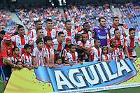 BARRANQUILLA- COLOMBIA -01-05-2016: Los jugadores de Atletico Junior, posan para una foto, durante partido entre Atletico Junior y Atletico Bucaramanga, de la fecha 16 de la Liga Aguila I-2016, jugado en el estadio Metropolitano Roberto Melendez de la ciudad de Barranquilla. / The players of Atletico Junior, pose for a photo, during a match between Atletico Junior and Atletico Bucaramanga, for date 16 of the Liga Aguila I-2016 at the Metropolitano Roberto Melendez Stadium in Barranquilla city, Photo: VizzorImage / Alfonso Cervantes / Cont.