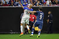 Houston, TX - Tuesday June 21, 2016: John Brooks, Gonzalo Higuain during a Copa America Centenario semifinal match between United States (USA) and Argentina (ARG) at NRG Stadium.