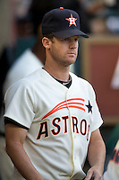 Houston Astros pitcher Roy Oswalt against the Philadelphia Phillies on Turn Back the Clock Nite. Game played on Saturday April 10th, 2010 at Minute Maid Park in Houston, Texas.  (Photo by Andrew Woolley / Four Seam Images)