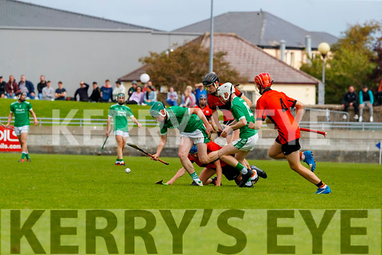 Anthony Kavanagh, Ballyduff, during the Kerry County Minor Hurling Championship Final match between Ballyduff and Ballyheigue at Austin Stack Park in Tralee, Kerry.