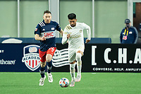 FOXBOROUGH, MA - MAY 1: Marcelino Moreno #10 of Atlanta United FC brings the ball forward during a game between Atlanta United FC and New England Revolution at Gillette Stadium on May 1, 2021 in Foxborough, Massachusetts.