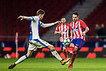 Victor Machin, Vitolo (R), of Atletico de Madrid fights for the ball with Gerard Gumbau Garriga of CD Leganes  during the La Liga 2017-18 match between Atletico de Madrid and CD Leganes at Wanda Metropolitano on February 28 2018 in Madrid, Spain. Photo by Diego Souto / Power Sport Images
