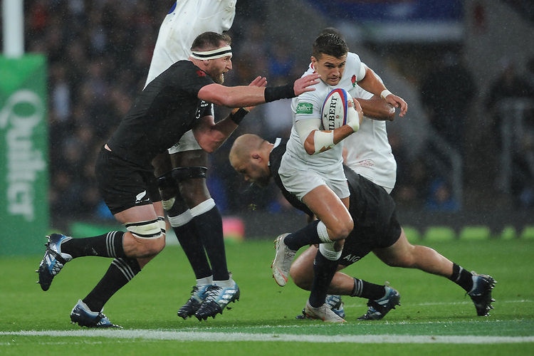 Henry Sladeof England breaks through during the Quilter International match between England and New Zealand at Twickenham Stadium on Saturday 10th November 2018 (Photo by Rob Munro/Stewart Communications)