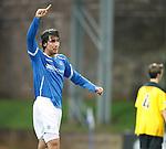 St Johnstone v Livingston...24.08.11   Scottish Communities League Cup Round 2.Francisco Sandaza celebrates his second goal saints third.Picture by Graeme Hart..Copyright Perthshire Picture Agency.Tel: 01738 623350  Mobile: 07990 594431