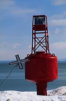 Amérique/Amérique du Nord/Canada/Quebec/Saint-Irénée : Balise sur les rives du Saint-Laurent