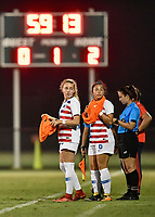Lakewood Ranch, FL - Wednesday, October 10, 2018:   Astrid Wheeler, Sunshine Fontes, referee during a U-17 USWNT match against Colombia.  The U-17 USWNT defeated Colombia 4-1.