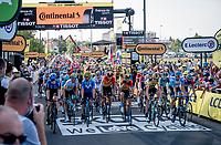 peloton rolling in<br /> <br /> Stage 19 from Bourg-en-Bresse to Champagnole (167km)<br /> <br /> 107th Tour de France 2020 (2.UWT)<br /> (the 'postponed edition' held in september)<br /> <br /> ©kramon