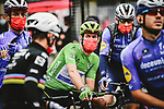 Green Jersey Mark Cavendish (GBR) and Deceuninck-Quick Step line up for the start of Stage 9 of the 2021 Tour de France, running 150.8km from Cluses to Tignes, France. 4th July 2021.  <br /> Picture: A.S.O./Pauline Ballet   Cyclefile<br /> <br /> All photos usage must carry mandatory copyright credit (© Cyclefile   A.S.O./Pauline Ballet)