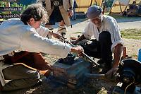 Coulage du bison de La Madeleine en bronze
