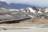 Gletscher, Gletscherzunge, Getscherfluß, Gletscherfluss, Skaftafellsjökull, Skaftafell National Park, Vatnajökull-Nationalpark, Südosten Island. Glacier, glacier tongue, ice tongue, ice front, iceland