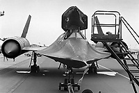 - U.S. Air Force strategic reconnaissance plane Lockheed SR-71 Blackbird on  Greenham Common English air base <br /> <br /> - Aereo da ricognizione strategica Lockheed SR-71 Blackbird  dell' US Air Force sulla base aerea inglese di Greenham Common