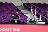 Orlando, Florida - Saturday January 13, 2018: Brian Schmetzer and Tom Dutra. Match Day 1 of the 2018 adidas MLS Player Combine was held Orlando City Stadium.