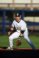 Vanderbilt Commodores infielder Zander Wiel (43) during a game against the Indiana State Sycamores on February 20, 2015 at Charlotte Sports Park in Port Charlotte, Florida.  Vanderbilt defeated Indiana State 3-2.  (Mike Janes/Four Seam Images)