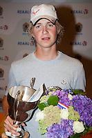 13-08-11, Tennis, Hillegom, Nationale Jeugd Kampioenschappen, NJK, Winnaar bij be jongens tot 16 jaar Jelle Sels